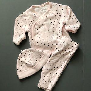 Baby Girl Pink Polka Dot Outfit